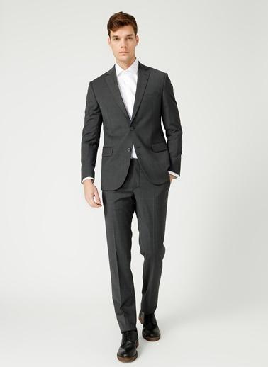 Kip Kip Fitted Düz Antrasit Takım Elbise Antrasit
